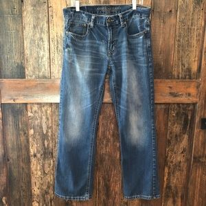American Eagle, 32/32, Faded Relaxed Bootcut Jeans